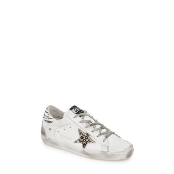 ゴールデングース レディース スニーカー シューズ Superstar Embellished Sneaker White/ Animal Print