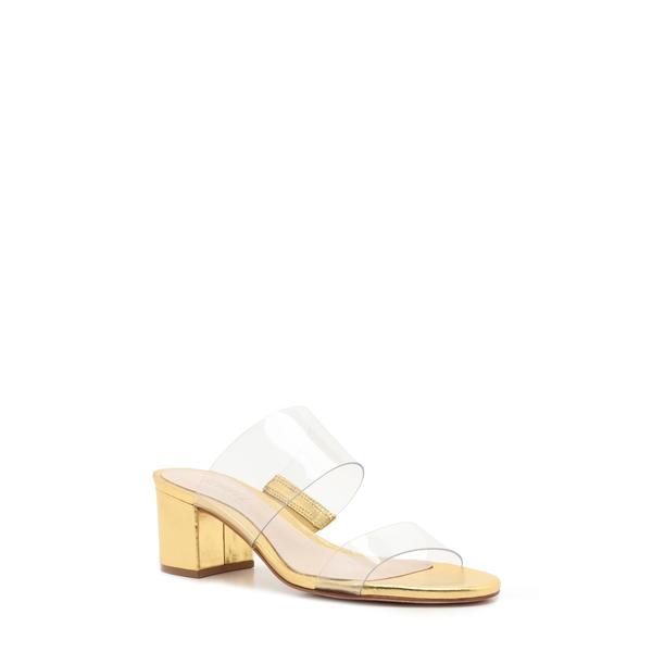 シュッツ レディース サンダル シューズ Victorie Slide Sandal Transparent/ Gold