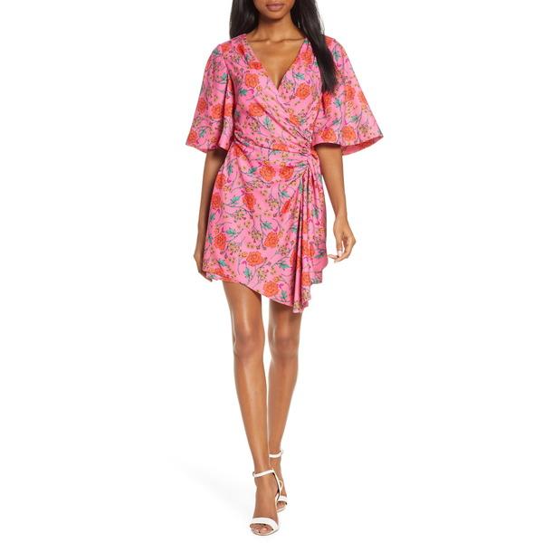 ファインダーズ キーパーズ レディース ワンピース トップス Hana Floral Side Ruched Minidress Fuchsia Floral