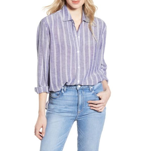 レイルズ レディース シャツ トップス Sydney Stripe Shirt Artic Stripe