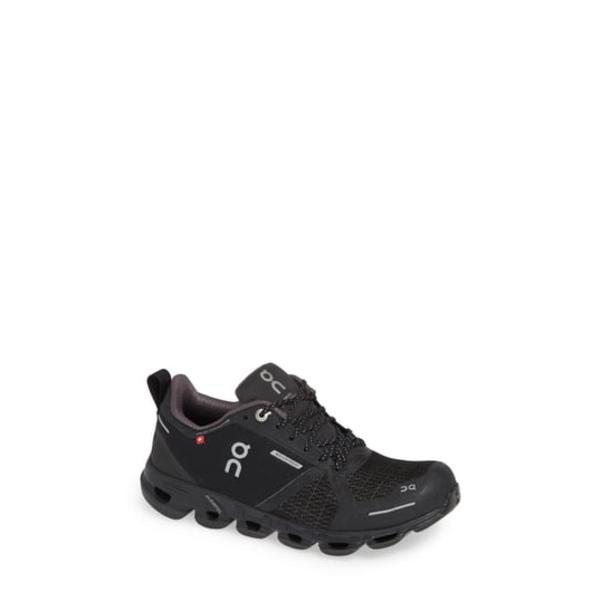 オン レディース スニーカー シューズ Cloudflyer Waterproof Running Shoe Black/ Lunar