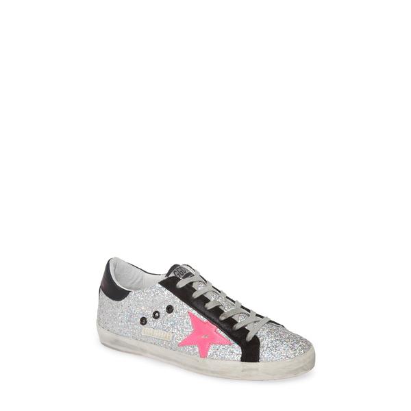 ゴールデングース レディース スニーカー シューズ Superstar Glitter Sneaker Rainbow Glitter/ Pink