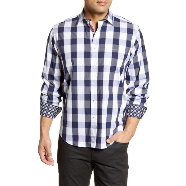 ブガッチ メンズ シャツ トップス Shaped Fit Button-Up Shirt Midnight
