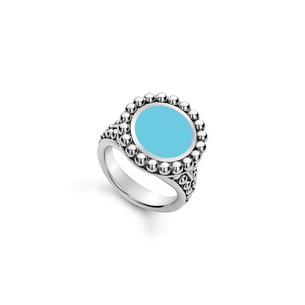 ラゴス レディース リング アクセサリー Maya Ceramic Ring Silver/ Blue