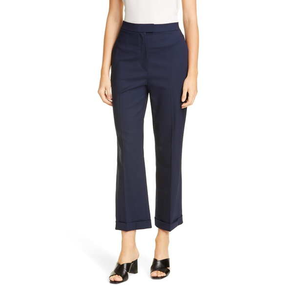 セント ジョン コレクション レディース カジュアルパンツ ボトムス Straight Leg Stretch Tropical Wool Crop Pants Navy