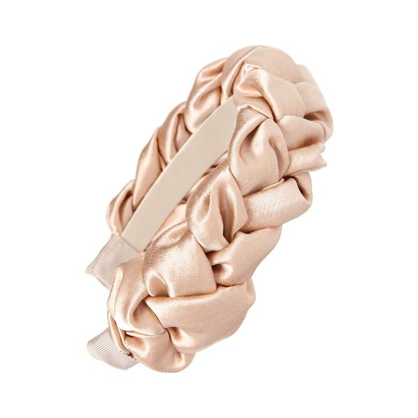ジェニファーベア レディース ヘアアクセサリー アクセサリー Lorelei Braided Silk Headband Almond