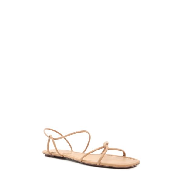 シュッツ レディース サンダル シューズ Aimi Strappy Flat Sandal Honey Beige Leather
