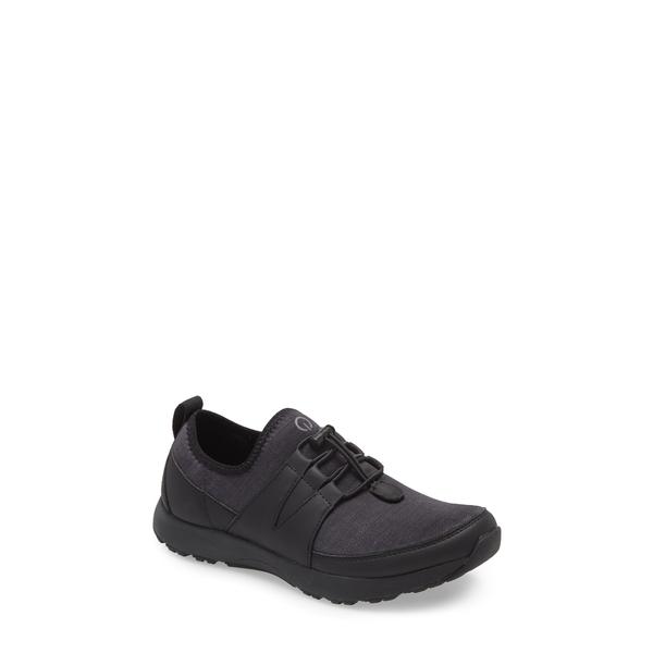 トラックバイアレグリア レディース スニーカー シューズ Cynch Knit Sneaker Black Leather