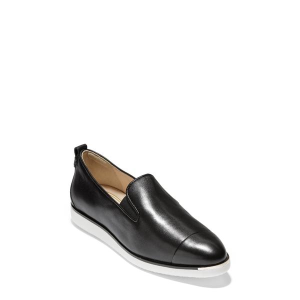 コールハーン レディース サンダル シューズ Grand Ambition Slip-On Sneaker Black Leather