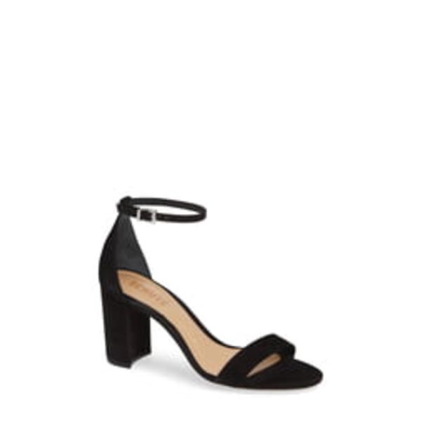 シュッツ レディース サンダル シューズ Anna Lee Ankle Strap Sandal Black Nubuck Leather