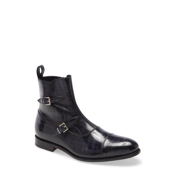 アイクベーハー メンズ ブーツ&レインブーツ シューズ Cruiser Double Monk Strap Boot Denim Grey