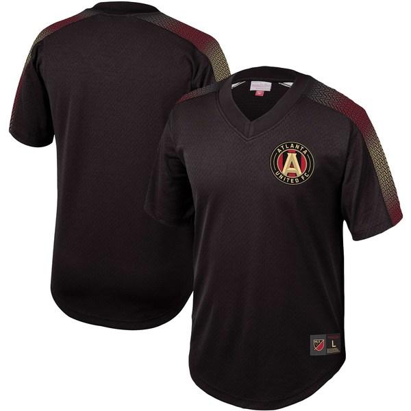 ミッチェル&ネス メンズ シャツ トップス Atlanta United FC Mitchell & Ness Mesh VNeck Jersey Black
