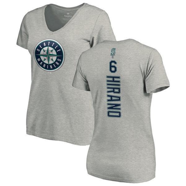 ファナティクス レディース Tシャツ トップス Seattle Mariners Fanatics Branded Women's Personalized Playmaker TShirt Ash