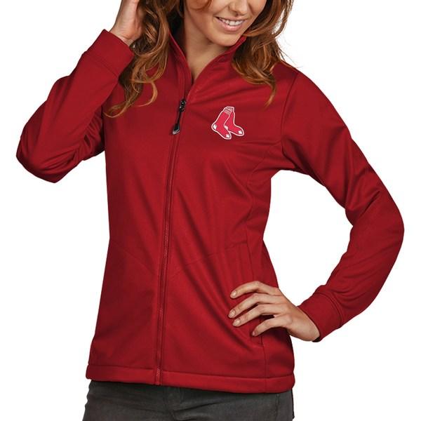 アンティグア レディース ジャケット&ブルゾン アウター Boston Red Sox Antigua Women's Golf FullZip Jacket Red