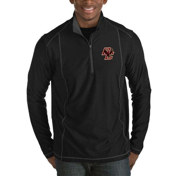 アンティグア メンズ ジャケット&ブルゾン アウター Boston College Eagles Antigua Tempo HalfZip Pullover Big & Tall Jacket Black