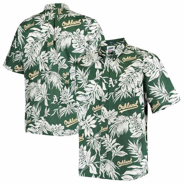 レインスプーナー メンズ シャツ トップス Oakland Athletics Reyn Spooner Aloha ButtonDown Shirt Green