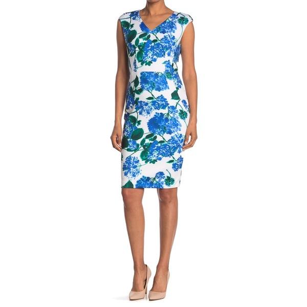 カルバンクライン レディース トップス ワンピース ファクトリーアウトレット REGATTA MULTI Dress Floral Sheath 全商品無料サイズ交換 新作 大人気