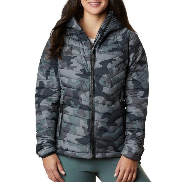 コロンビア レディース ジャケット&ブルゾン アウター Columbia Women's Powder Lite Hooded Jacket ChalkBotanicaPrint