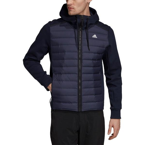 アディダス メンズ ジャケット&ブルゾン アウター adidas Men's Varilite Hybrid Jacket Brown