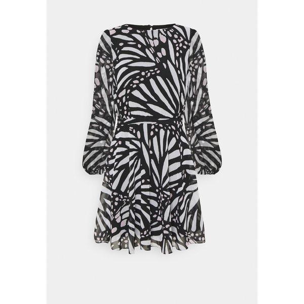 フジオカシ ミリー レディース ワンピース dress トップス ELMA GRAPIC BUTTTERFLY Day DRESS - ELMA Day dress - black/white, 富浦町:ca1df8b6 --- essexadvan.co.uk