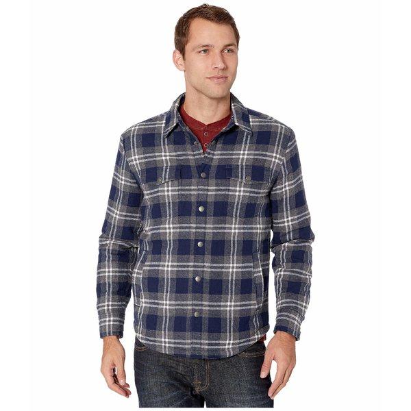 ラッキーブランド メンズ コート アウター Plaid Shirt Jacket Grey/Blue Plaid