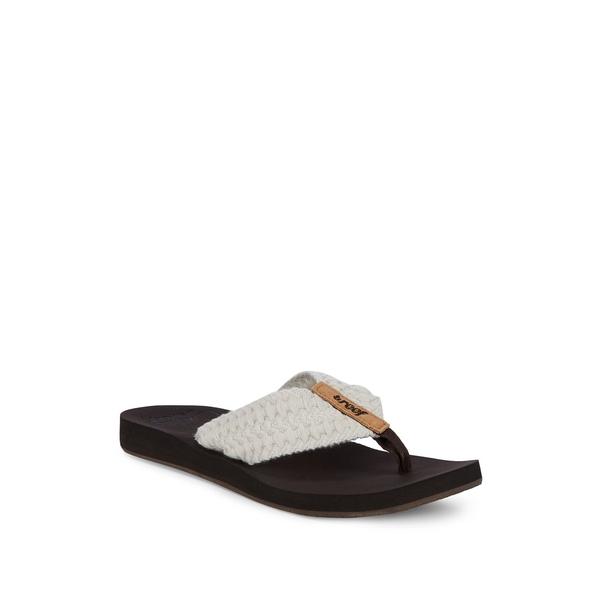 リーフ レディース サンダル シューズ Cushion Threads Thong Sandals Vintage White