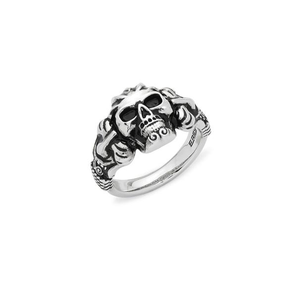 エフィー レディース リング アクセサリー Skull Sterling Silver Ring Silver