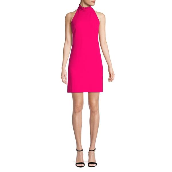 ヴィンスカムート レディース ワンピース トップス Ruffle-Trimmed High Neck Shift Dress Raspberry