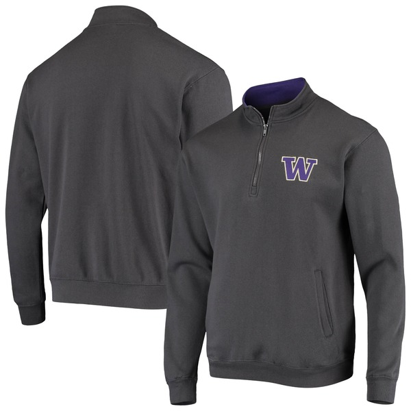 コロシアム メンズ ジャケット&ブルゾン アウター Washington Huskies Colosseum Tortugas Logo QuarterZip Jacket Heathered Gray