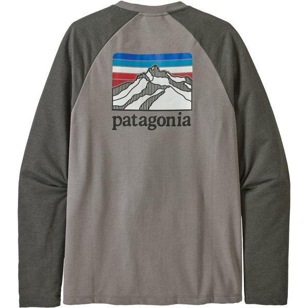 Line FeatherGreyW/ForgeGrey Ridge Crew メンズ Logo Sweatshirt Lightweight パタゴニア アウター Patagonia パーカー・スウェットシャツ Men's