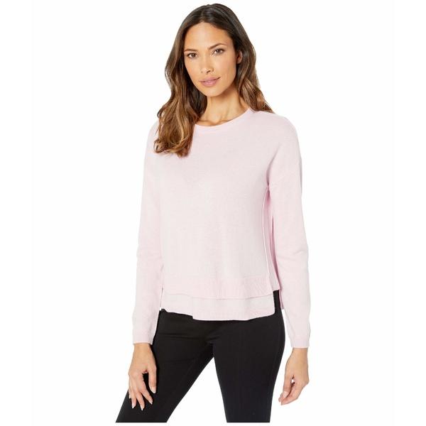 エリオットローレン レディース ニット&セーター アウター Cashmere Crew Neck Sweater with Double Hem Detail Pink