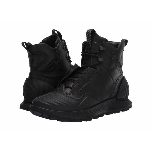 エコー メンズ ブーツ&レインブーツ シューズ Exostrike Hydromax Primaloft Mid Boot Black/Black