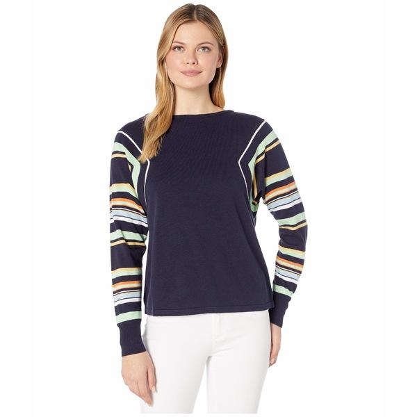ヴィンスカムート レディース ニット&セーター アウター Stripe Color Block Dolman Sleeve Sweater Caviar