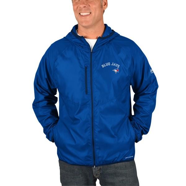 マジェスティック メンズ ジャケット&ブルゾン アウター Toronto Blue Jays Majestic Strong Will Dry Base FullZip Hooded Jacket Royal