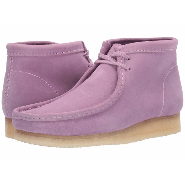クラークス メンズ ブーツ&レインブーツ シューズ Wallabee Boot Lavender Suede