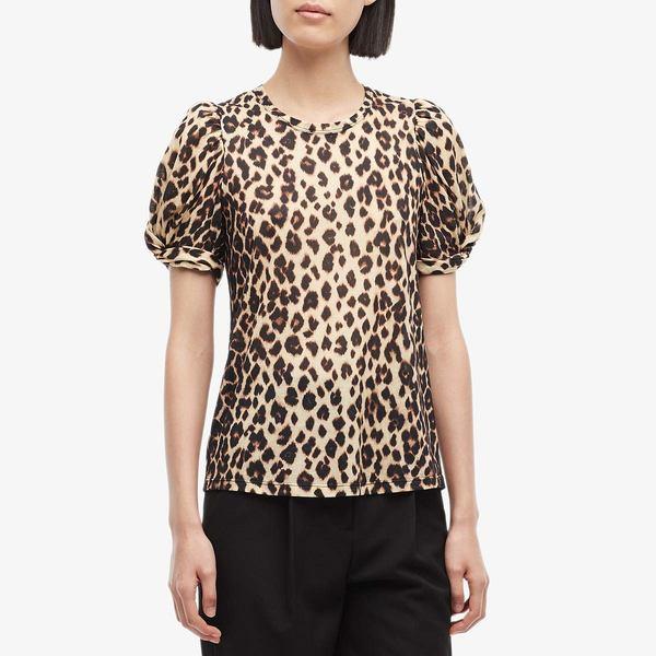 エーエルシー レディース シャツ トップス Kati T-Shirt Brown Multi