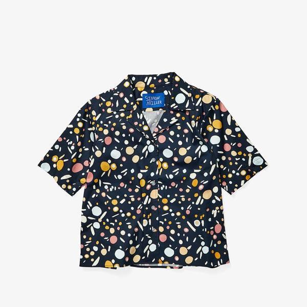 サイモンミラー レディース シャツ トップス Roa Shirt Seaglass Print