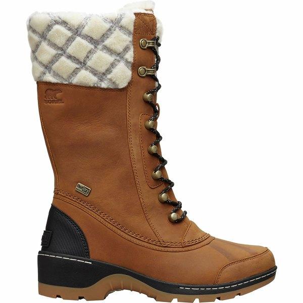ソレル レディース ブーツ&レインブーツ シューズ Whistler Tall Boot - Women's Camel Brown/Black
