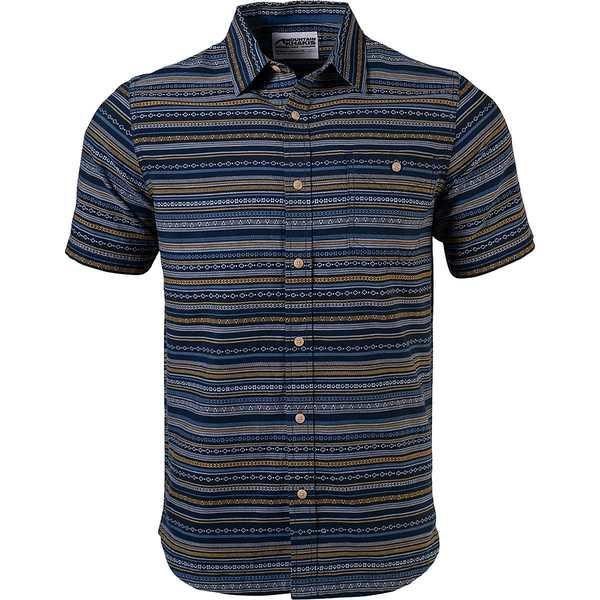 マウンテンカーキス メンズ シャツ トップス Horizon Short-Sleeve Shirt - Men's Indigo
