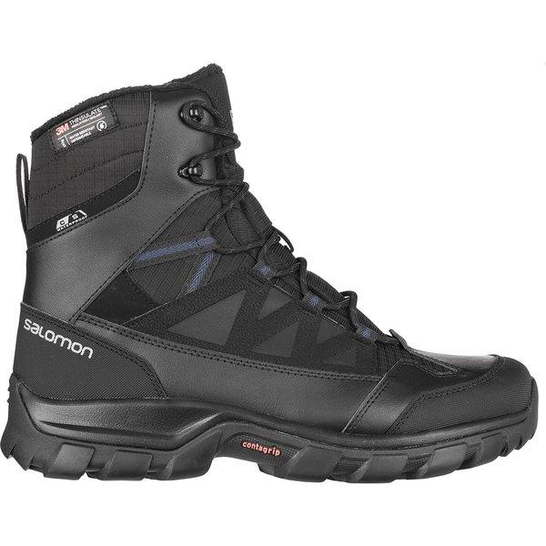 サロモン メンズ ブーツ&レインブーツ シューズ Chalten TS CS Waterproof Boot - Men's Black/Black/Sargasso Sea