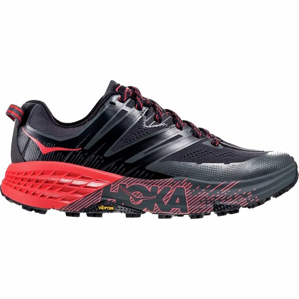 ホッカオネオネ レディース スニーカー シューズ Speedgoat 3 Trail Running Shoe - Women's Dark Shadow/Poppy Red