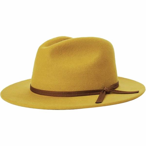 ブリクストン メンズ 帽子 アクセサリー Coleman Fedora Maize