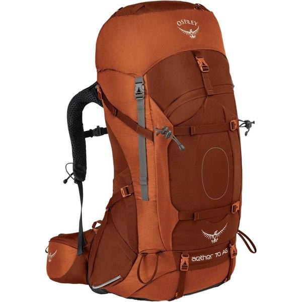 オスプレーパック レディース バックパック・リュックサック バッグ Aether AG 70L Backpack Outback Orange