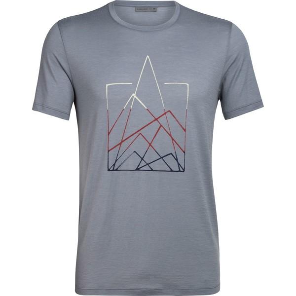 アイスブレーカー メンズ シャツ トップス Tech Lite Short-Sleeve Crew 7 Pinnacles Shirt - Men's Mineral