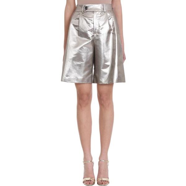 マウロ Grifoni Shorts グリフォーニ レディース カジュアルパンツ ボトムス ボトムス Mauro Grifoni Silver Cotton Shorts silver, カー用品通販ショップ VS-ONE:b9d4f75b --- officewill.xsrv.jp
