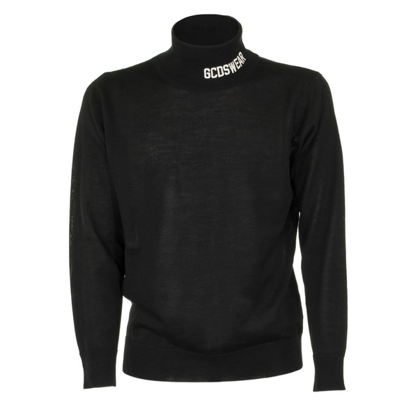 ジーシーディーエス メンズ ニット&セーター アウター GCDS Logo Turtleneck Black Black