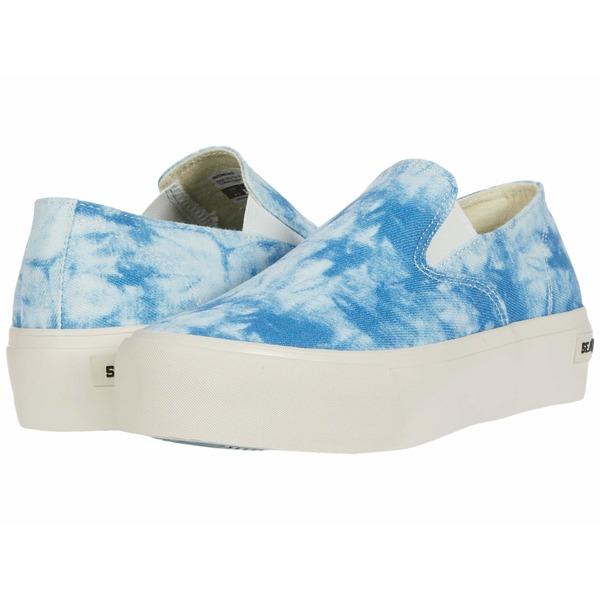 シービーズ レディース スニーカー シューズ Baja Slip-On Platform Tie-Dye Blue