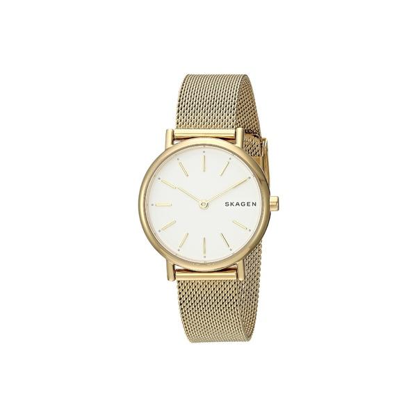 スカーゲン レディース 腕時計 アクセサリー Signatur Slim Two-Hand Watch SKW2693 Gold Stainless Steel Mesh