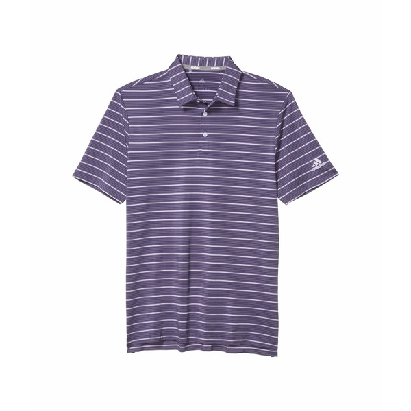 アディダス メンズ シャツ トップス Ultimate365 Pencil Stripe Polo Shirt Tech Purple/Collegiate Navy/Purple Tint