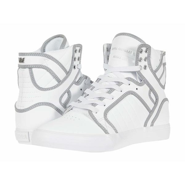 スープラ メンズ スニーカー シューズ Skytop White/Reflect/White
